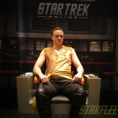Mirror Kirk (1st prototype) in the STO Captain's Chair. #STLV #STLV18 (2018)