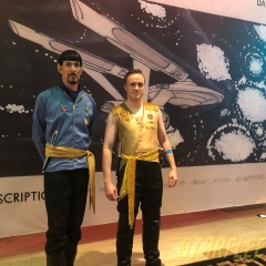 Mirror Kirk (1st prototype) and Spock (Topher Bold). #STLV #STLV18 (2018)