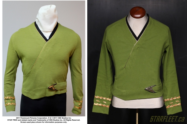 Season 2 Kirk Wraparound Tunic - Shatner Original vs Capt J. Chase Replica (2016)